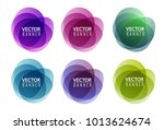 set of colorful round abstract... | Shutterstock .eps vector #1013624674