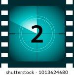 old film movie countdown frame. ... | Shutterstock .eps vector #1013624680