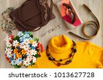 clothing and accessories for... | Shutterstock . vector #1013627728