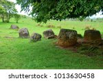 giant megalithic stone urns at... | Shutterstock . vector #1013630458