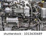 engine of fighter jet  internal ... | Shutterstock . vector #1013630689