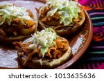 traditional mexican food  tinga ... | Shutterstock . vector #1013635636