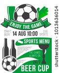 soccer sports live championship ... | Shutterstock .eps vector #1013636014