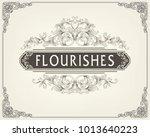 thai art  gold border frame... | Shutterstock .eps vector #1013640223