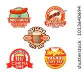 fast food cafe bistro or cinema ... | Shutterstock .eps vector #1013640694