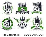 soccer live game icons of... | Shutterstock .eps vector #1013640730