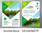 business brochure. flyer design.... | Shutterstock .eps vector #1013646079