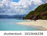 coron palawan beach aerial view | Shutterstock . vector #1013646238