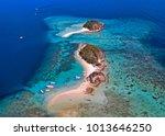 coron palawan beach aerial view | Shutterstock . vector #1013646250