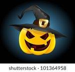 halloween pumpkin vector | Shutterstock .eps vector #101364958