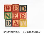 the arrangement of letters... | Shutterstock . vector #1013650069