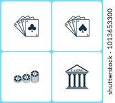 vector illustration set casino... | Shutterstock .eps vector #1013653300