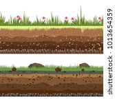 underground layers. dirt and... | Shutterstock .eps vector #1013654359