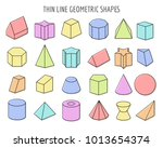 colorfull 3d objects. color... | Shutterstock .eps vector #1013654374