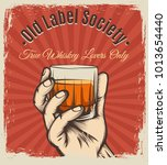 whiskey vintage poster. retro... | Shutterstock .eps vector #1013654440