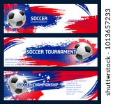 soccer tournament or football... | Shutterstock .eps vector #1013657233
