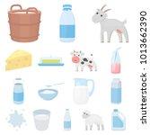 milk product cartoon icons in... | Shutterstock . vector #1013662390