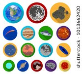 planets of the solar system... | Shutterstock . vector #1013662420