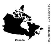 canada map icon. simple... | Shutterstock .eps vector #1013664850
