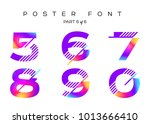 vector colorful typeset. blue ... | Shutterstock .eps vector #1013666410