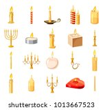 candle icon set. cartoon set of ... | Shutterstock .eps vector #1013667523