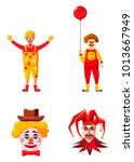 clown icon set. cartoon set of...   Shutterstock .eps vector #1013667949