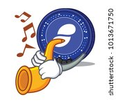 with trumpet status coin mascot ... | Shutterstock .eps vector #1013671750
