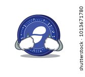 crying status coin mascot... | Shutterstock .eps vector #1013671780