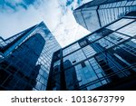 low angle view of skyscrapers... | Shutterstock . vector #1013673799