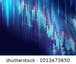 financial stock market graph on ... | Shutterstock . vector #1013673850