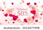 valentine special offer and... | Shutterstock .eps vector #1013677498