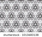 ornament with elements of gray... | Shutterstock . vector #1013683138