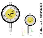 basic dial gauge on transparent ... | Shutterstock .eps vector #1013687023