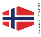 flag of norway vector... | Shutterstock .eps vector #1013691883