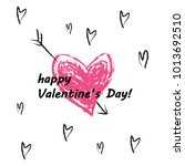 happy valentine's day  vector | Shutterstock .eps vector #1013692510