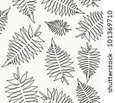 seamless pattern with fern... | Shutterstock .eps vector #101369710