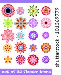 20 isolated decorative colorful ... | Shutterstock .eps vector #101369779