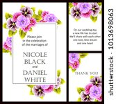 romantic invitation. wedding ... | Shutterstock . vector #1013698063