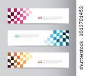 vector abstract banner design. ... | Shutterstock .eps vector #1013701453
