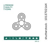 tri spinner icon | Shutterstock .eps vector #1013702164