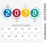 2018 business startup planning... | Shutterstock .eps vector #1013705503