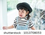 Stock photo portrait of angry and sad asian little girl crying with full of tear children s emotions 1013708053