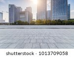 empty floor with modern... | Shutterstock . vector #1013709058