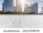 empty floor with modern... | Shutterstock . vector #1013709070
