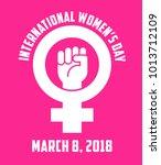 international women's day...   Shutterstock .eps vector #1013712109