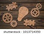 concept business idea. gears ... | Shutterstock . vector #1013714350
