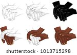 hand holding hand together... | Shutterstock .eps vector #1013715298