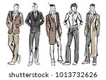fashion man. set of fashionable ... | Shutterstock .eps vector #1013732626