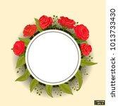 vector image. white round frame ... | Shutterstock .eps vector #1013733430