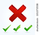 validation icons. this vector... | Shutterstock .eps vector #101373538
